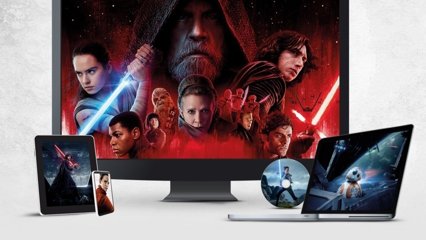 Stillbilleder fra Star Wars: The Last Jedi på TV, bærbar, tablet og mobil