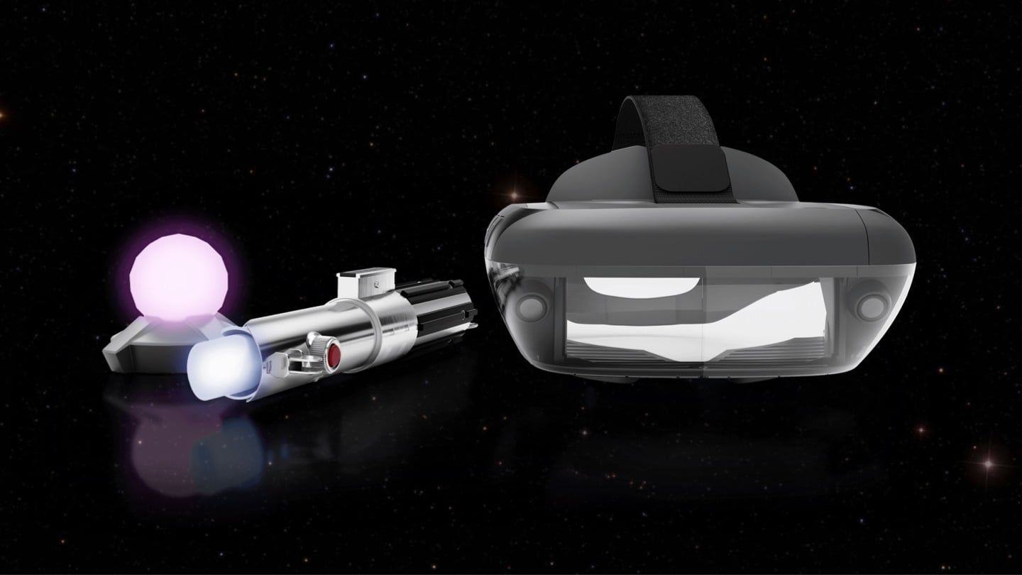 Lightsaber controller and headset