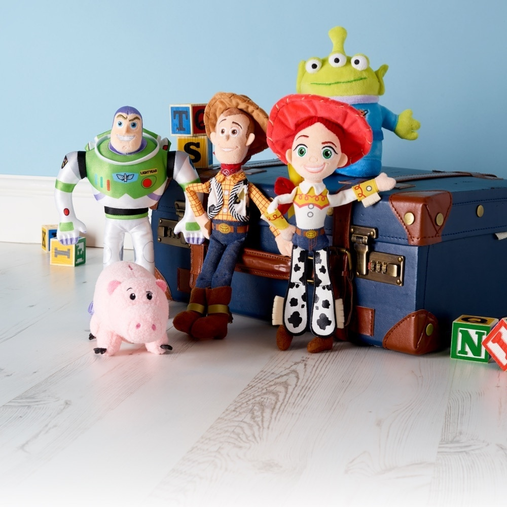 Woody, Buzz and Forky inspired soft toys