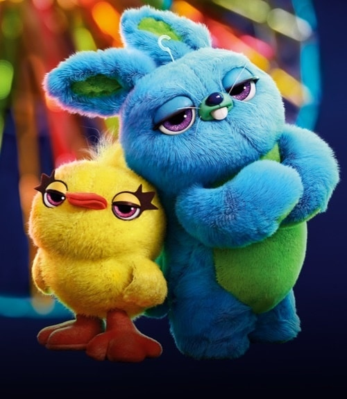 Ducky and Bunny from Toy Story 4