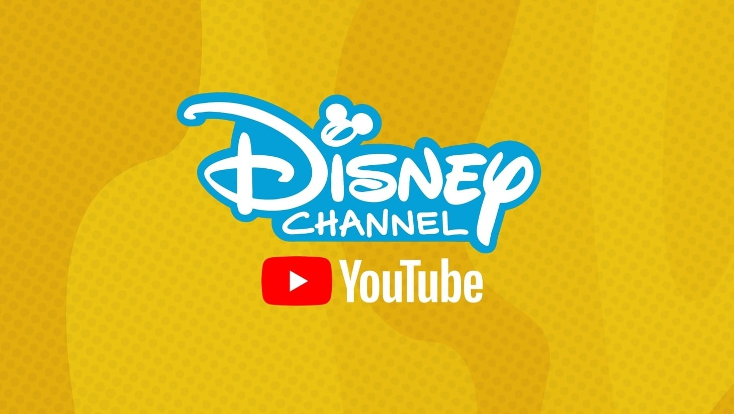 Logo Disney Channel i YouTube na żółtym tle