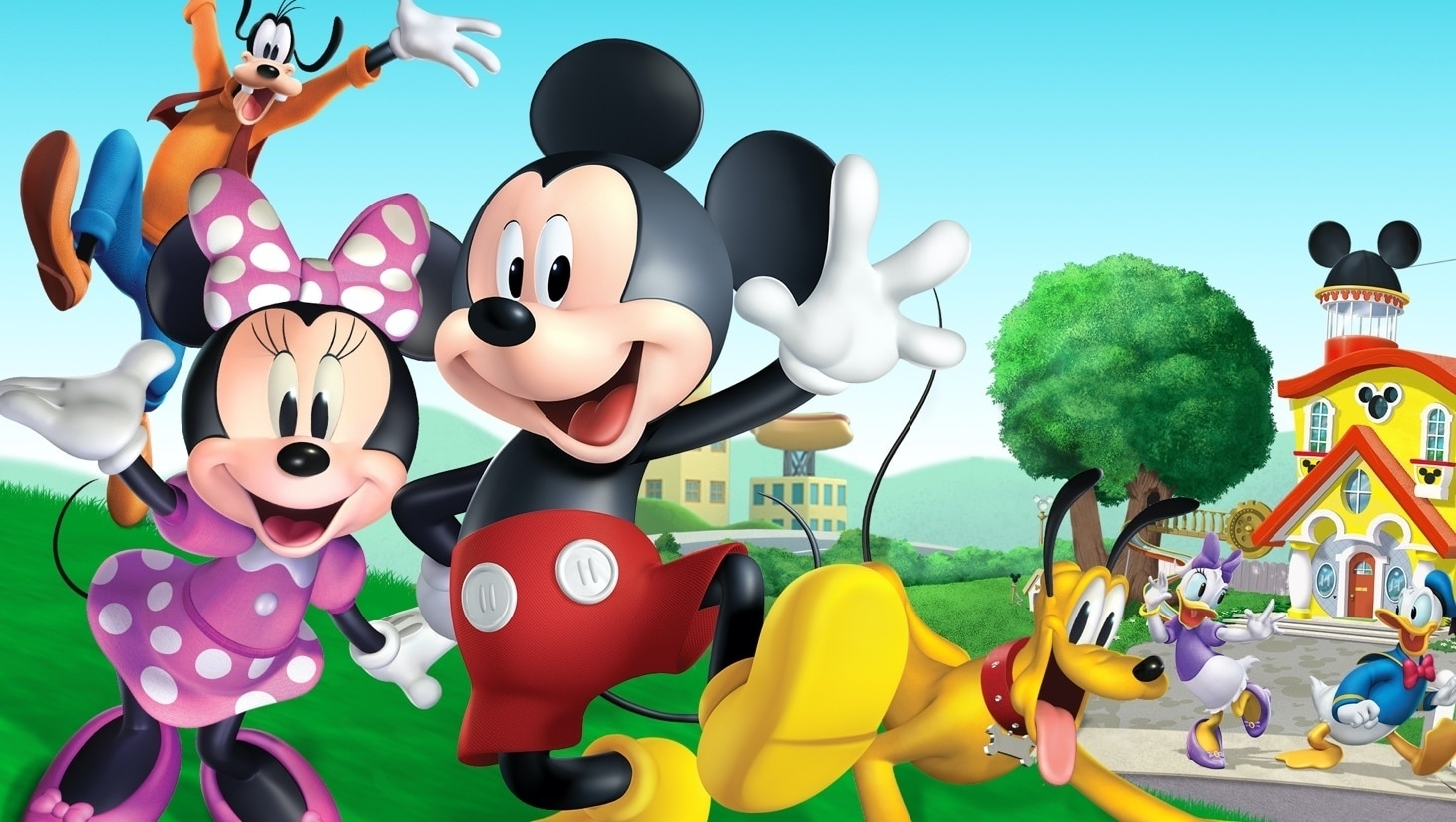 Mickey, Minnie, Pluto, Goofy, Donald and Daisy from Mickey Mouse's Mixed Up Adventures
