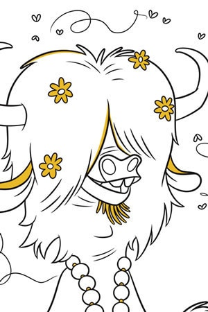Yax Colouring Page