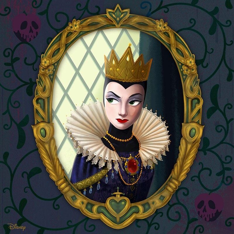 Portrait renaissance-inspired painting of The Evil Queen