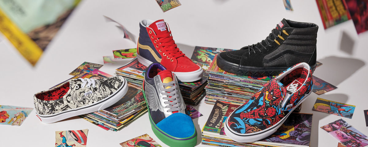 Sneakers from the Marvel x Vans Heroic New Collection