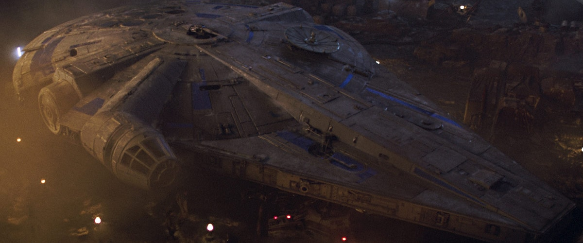 The Millennium Falcon during Lando's ownership