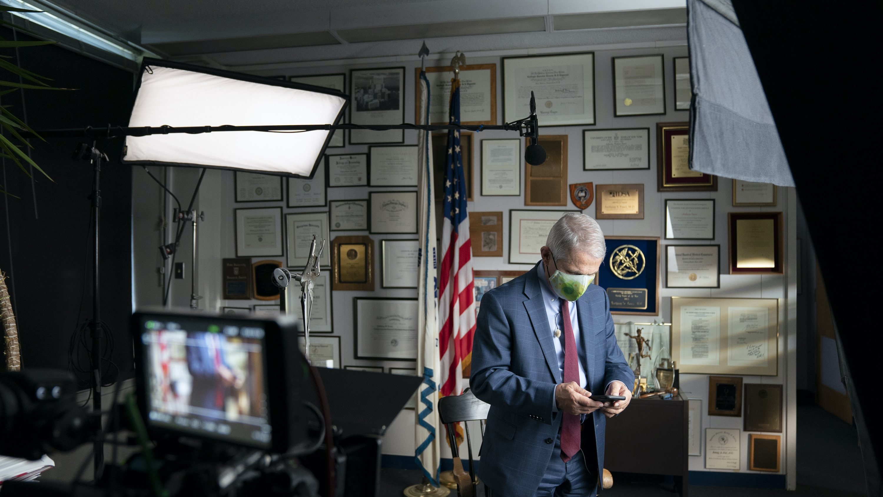 Dr. Anthony Fauci during an interview at the NIH in Bethesda, MD.  (National Geographic for Disney+/Visko Hatfield)