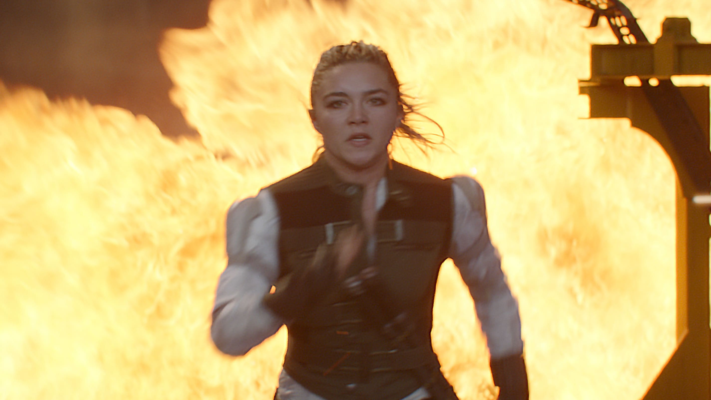 Yelena (Florence Pugh) in Marvel Studios' BLACK WIDOW, in theaters and on Disney+ with Premier Access. Photo courtesy of Marvel Studios. ©Marvel Studios 2021. All Rights Reserved.