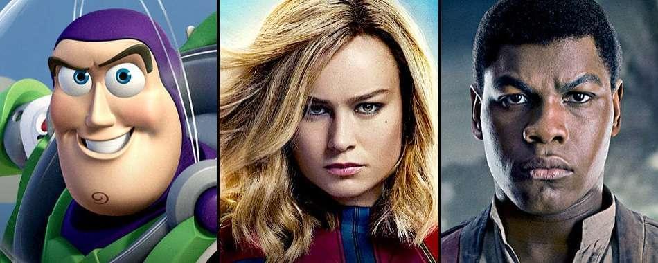 Characters on Disney Plus, Buzz Lightyear, Captain Marvel, Finn