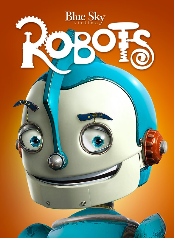 Blu Sky Studios Robots movie poster