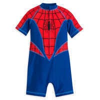 Image of Spider-Man One-Piece Rash Guard for Boys # 1