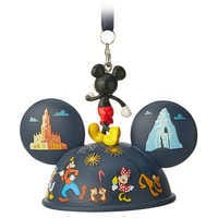 Image of Mickey Mouse Light-Up Ear Hat Ornament - Disneyland 2019 # 3