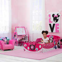 Image of Minnie Mouse Interactive Wooden Toddler Bed # 2