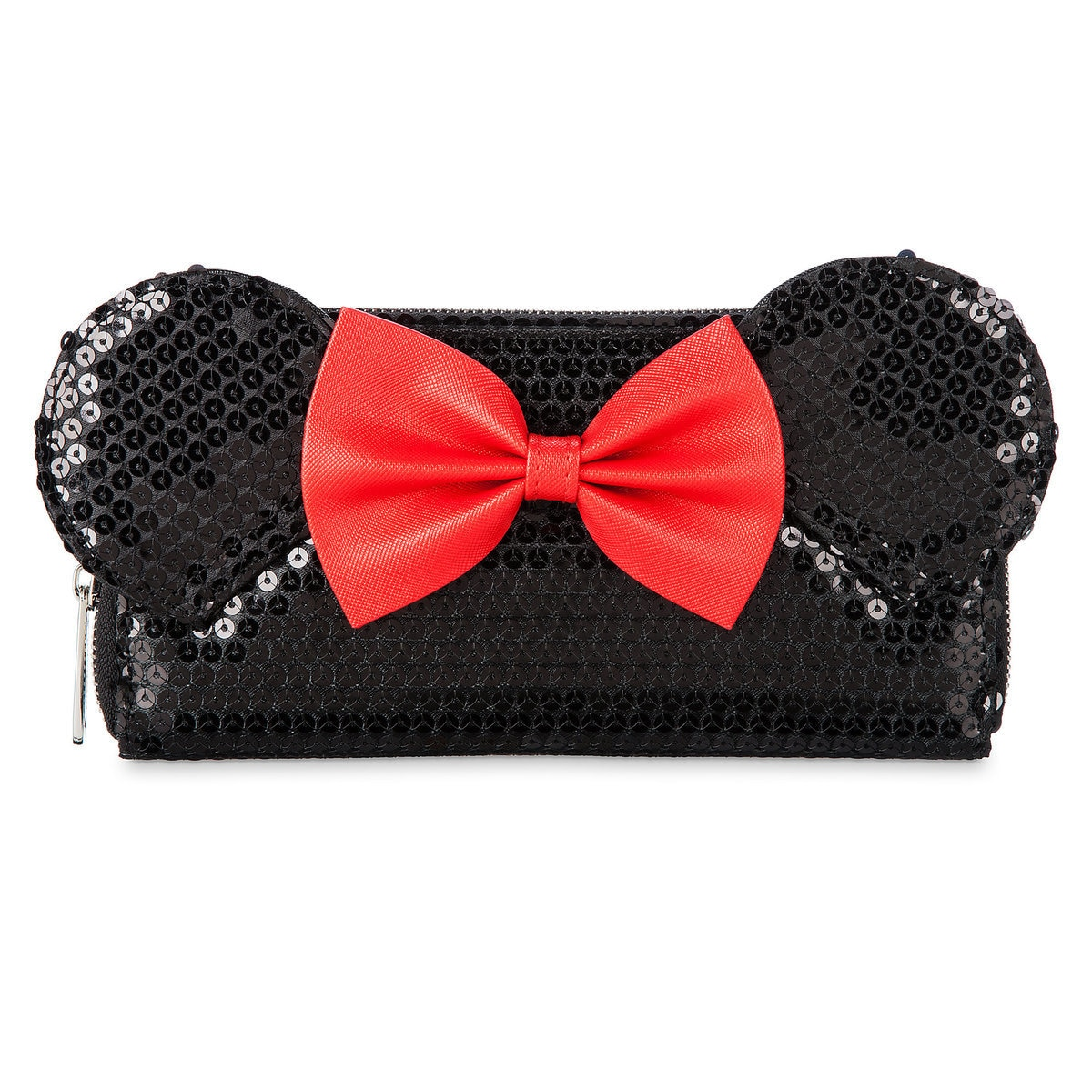 9eaad936f08 Product Image of Minnie Mouse Wallet by Loungefly - Black Sequined   1