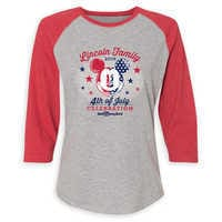Image of Women's Mickey Mouse 4th of July Raglan T-Shirt - Walt Disney World - Customized # 1