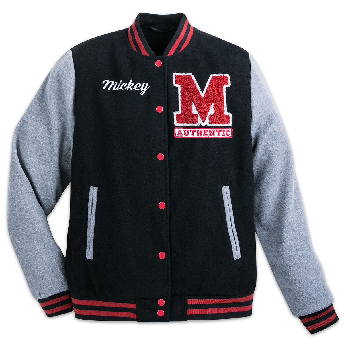 mickey mouse letterman jacket for adults shopdisney