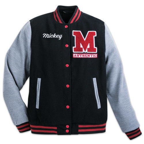 45e540bb6 Mickey Mouse Letterman Jacket for Adults | shopDisney