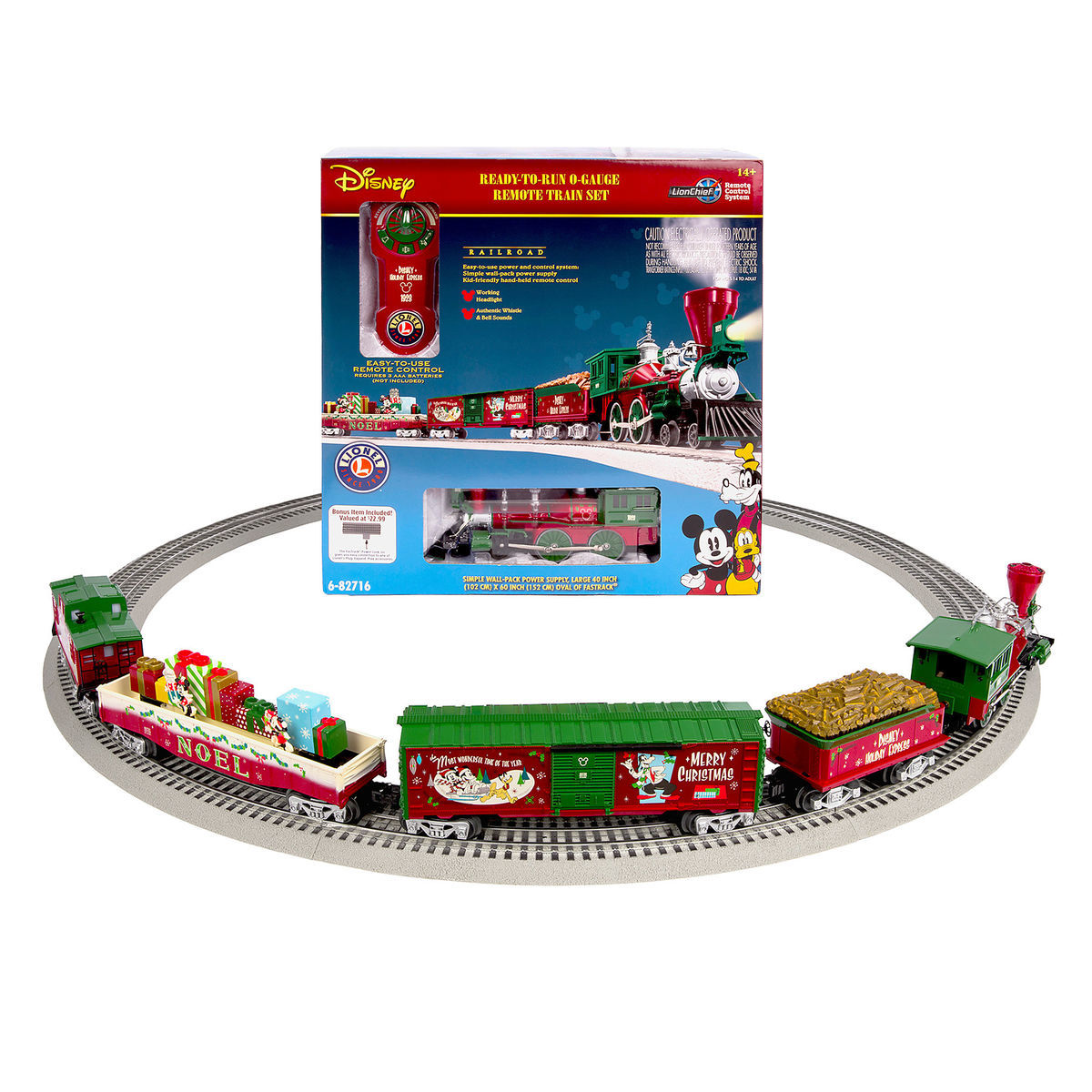 Mickey Mouse And Friends Holiday Express Ready To Run O Gauge Train Set By Lionel
