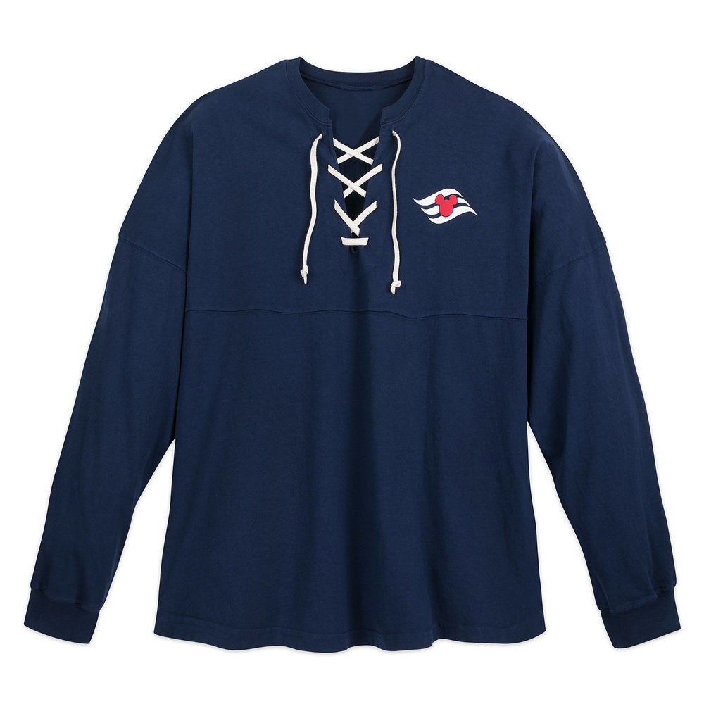 Disney Cruise Line Lace-Up Spirit Jersey for Adults - Navy