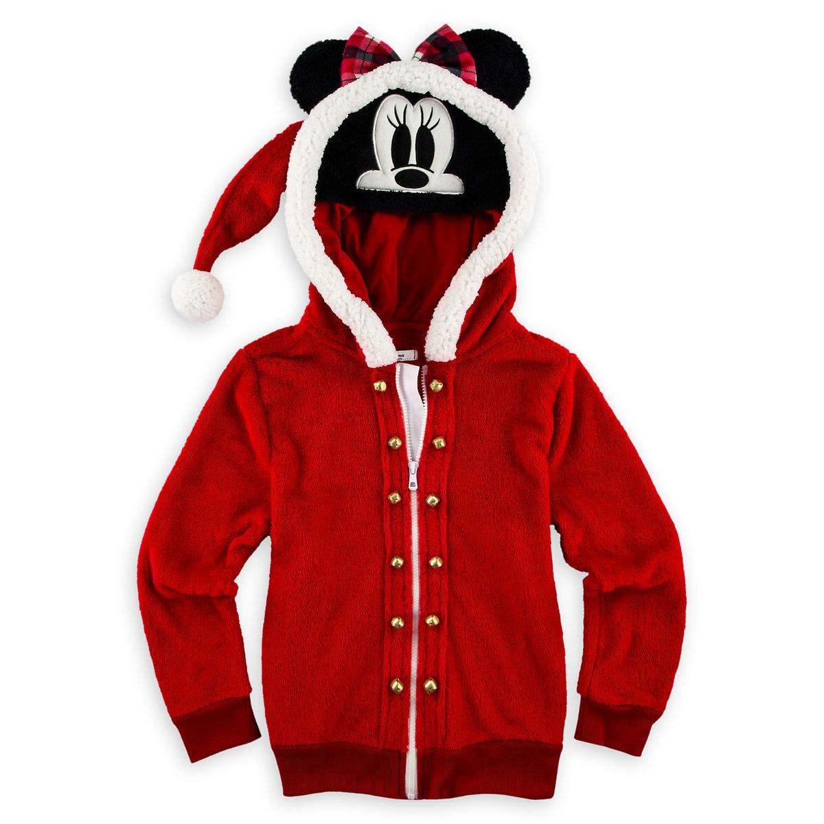 60b09568c Minnie Mouse Holiday Hooded Fleece Jacket for Girls