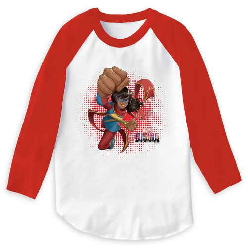 Ms. Marvel Flying Punch T-Shirt for Girls - Marvel Rising - Customizable