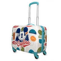 Image of Mickey Mouse ''Go Explore'' Rolling Luggage # 1