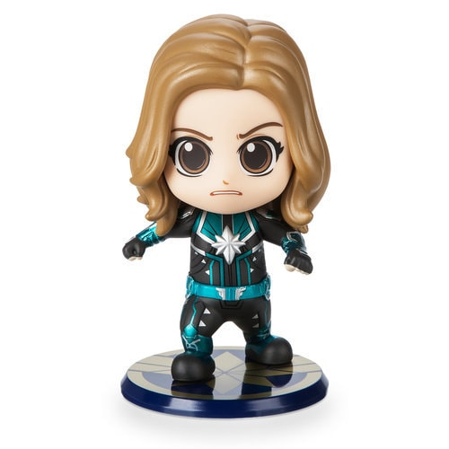 Marvel's Captain Marvel Cosbaby Bobble-Head Figure by Hot Toys - Starforce Version