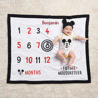 Image of Mickey Mouse Milestone Blanket Set for Baby - Personalized # 2
