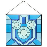 Mickey Mouse Hanukkah Stained Glass Window