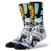 Image of Star Wars Warped Chewbacca Socks for Adults by Stance # 1