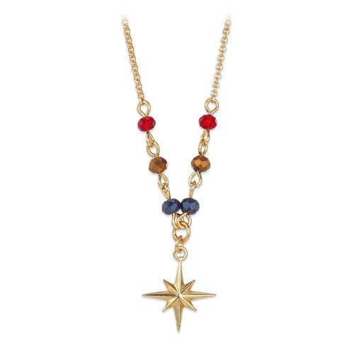 Marvel's Captain Marvel Star Crystal Bead Necklace