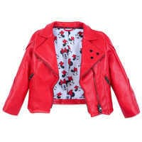 Image of Minnie Mouse Faux Leather Jacket for Girls # 3