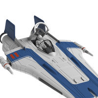 Image of Resistance A-Wing Fighter Model Kit - Star Wars: The Last Jedi # 4