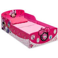 Image of Minnie Mouse Interactive Wooden Toddler Bed # 1
