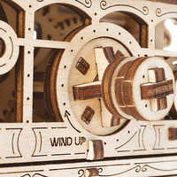 Image of Main Street U.S.A. Trolley Wooden Puzzle by UGears # 3