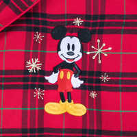 Image of Mickey Mouse Holiday Plaid PJ Set for Men - Personalizable # 3