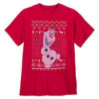Image of Olaf Holiday T-Shirt for Men - Frozen # 1