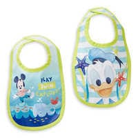 Image of Mickey Mouse and Donald Duck Bib Set for Baby # 1