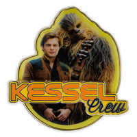 Image of Han Solo and Chewbacca ''Kessel Crew'' Pin - Solo: A Star Wars Story # 1
