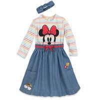 Image of Minnie Mouse Dress and Headband Set for Girls # 1