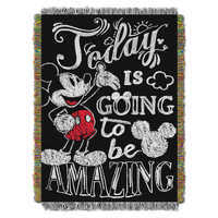 Image of Mickey Mouse Woven Tapestry Throw # 1