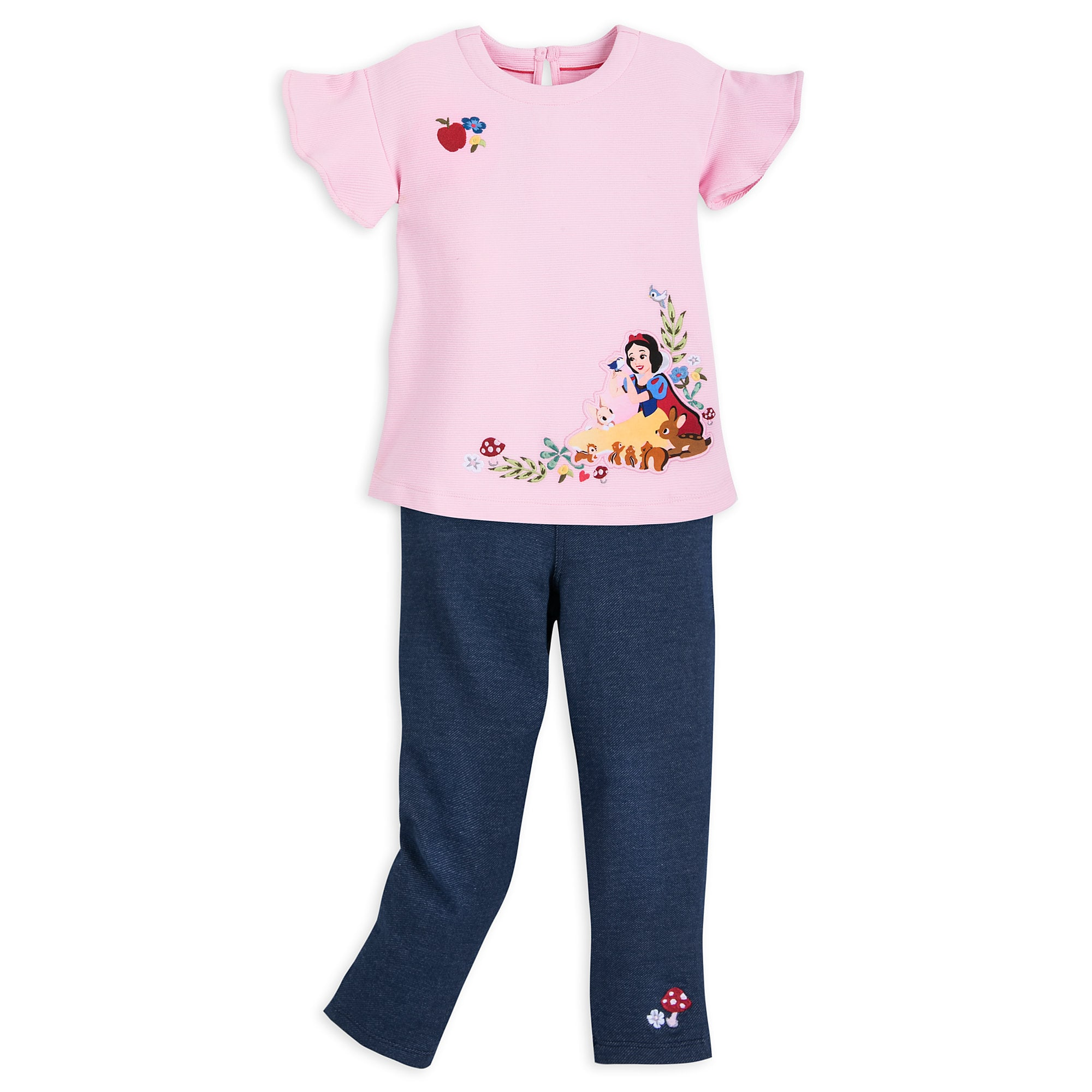 Snow White Top and Leggings Set for Girls