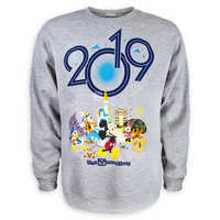 Image of Mickey Mouse and Friends Fleece Sweatshirt for Adults - Walt Disney World 2019 # 1