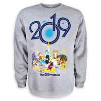 Image of Mickey Mouse and Friends Fleece Sweatshirt for Adults - Walt Disney World 2019 # 1