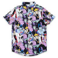 Image of Disney Villains Button-Up Shirt for Adults by Cakeworthy # 1