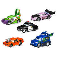 Image of Sheriff & Tuner Cars Pull 'N' Race Die Cast Set - Cars # 1