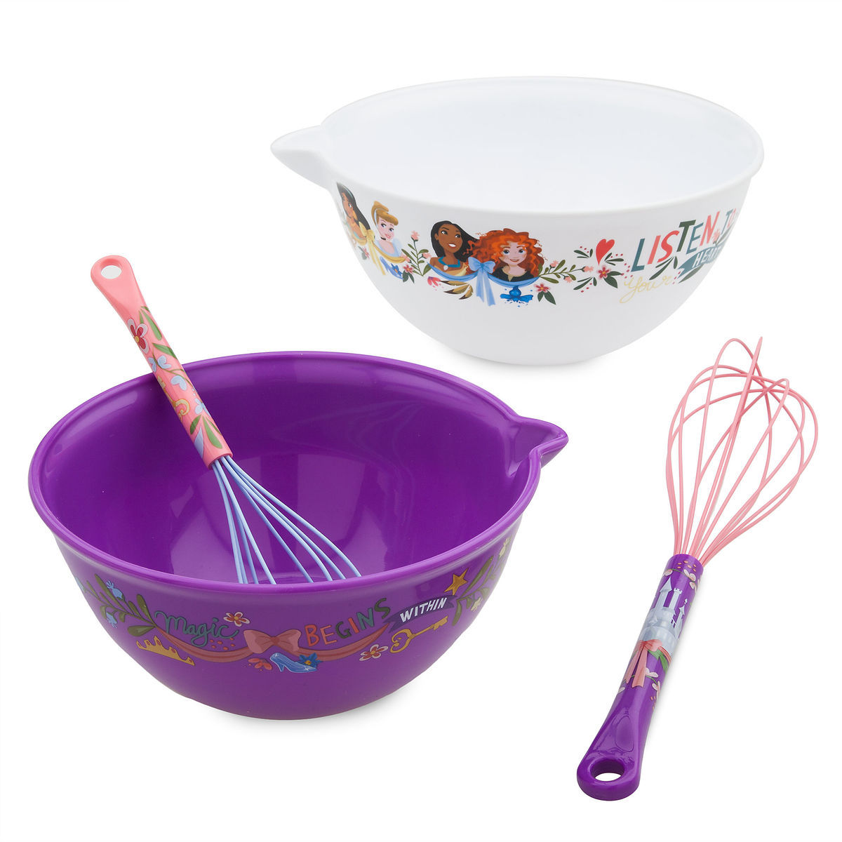 disney princess mixing bowl and whisk set disney eats shopdisney