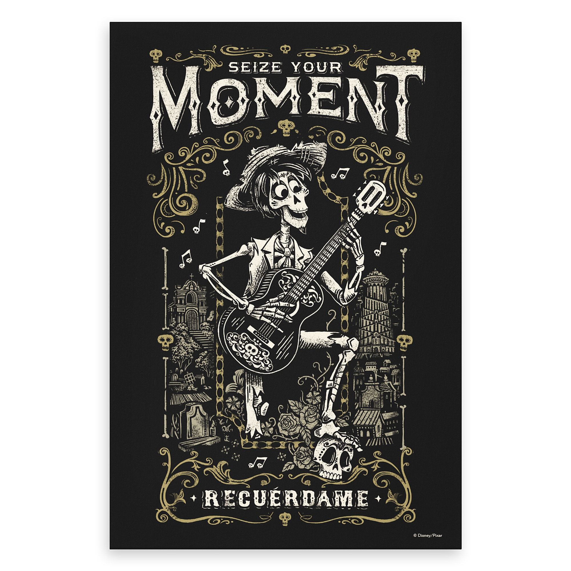 Hector Seize Your Moment Recuerdame Canvas Print - Coco - Customizable