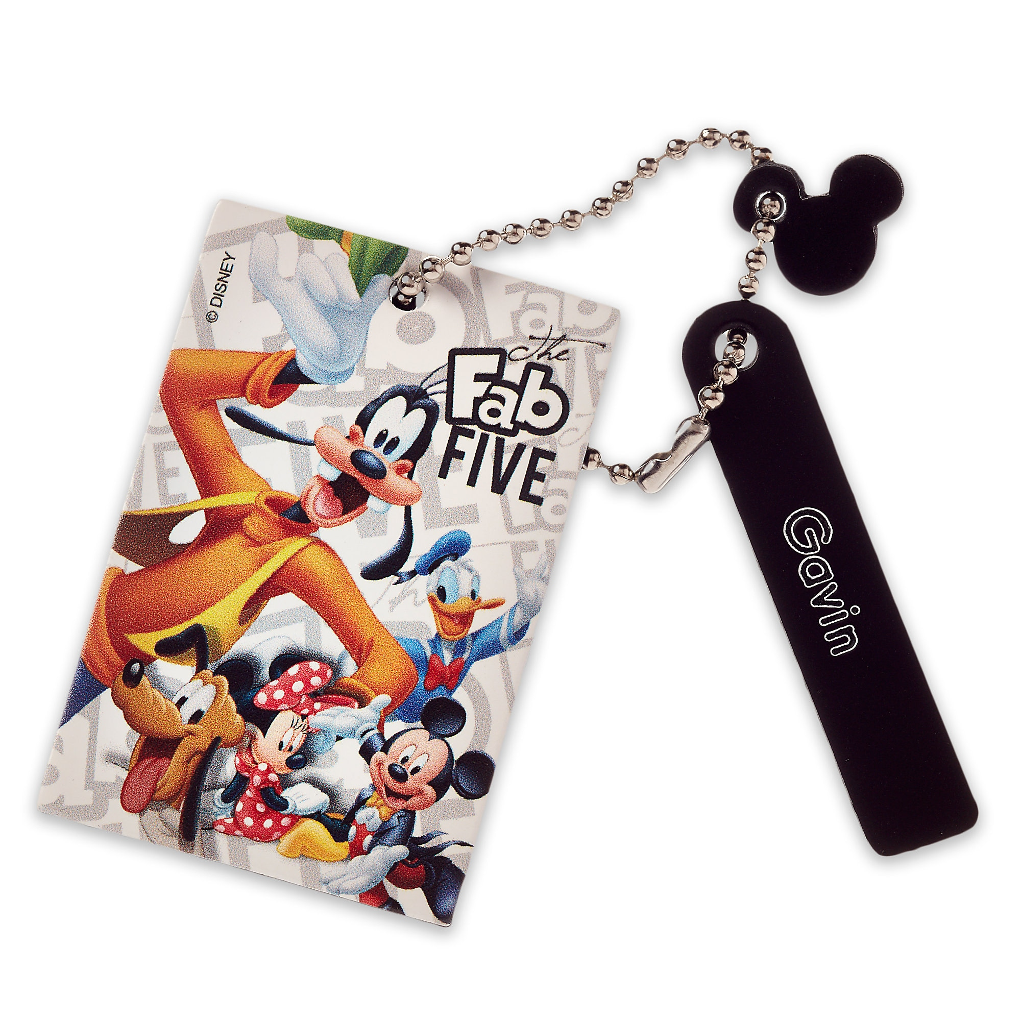 Mickey Mouse and Friends Leather Bag Tag - Personalizable