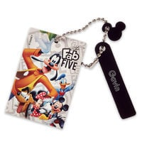 Image of Mickey Mouse and Friends Leather Bag Tag - Personalizable # 1